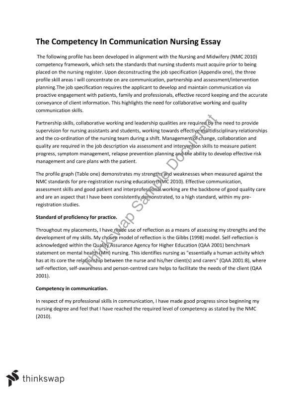 Essay related to nursing