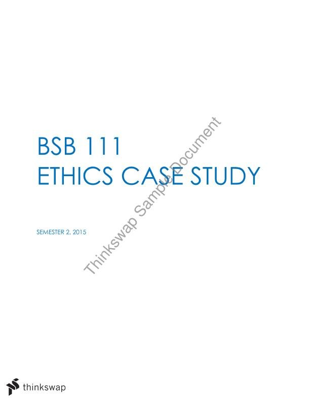 Ethics case study business