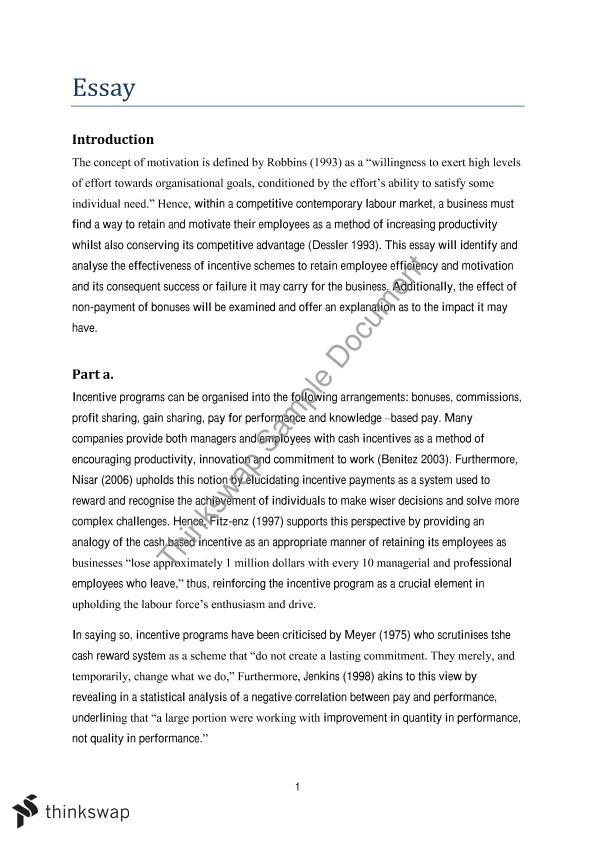 Graduating High School Essay Essay On Motivation Essays In English also How To Write A High School Essay Essay On Motivation  Buss  Future Of Business  Thinkswap Sample High School Admission Essays