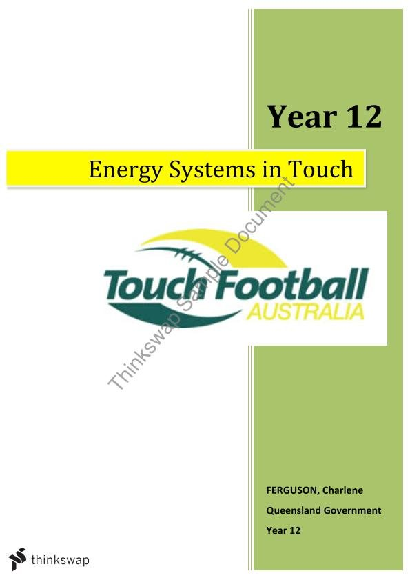 touch the energy systems Training your energy systems: the sprint system (atp-pcr, phosphate) by admin / on may 27, 2017 / / posted in afl , all , basketball , cricket , general training , rugby league , rugby union , soccer , touch football , ultra marathon.