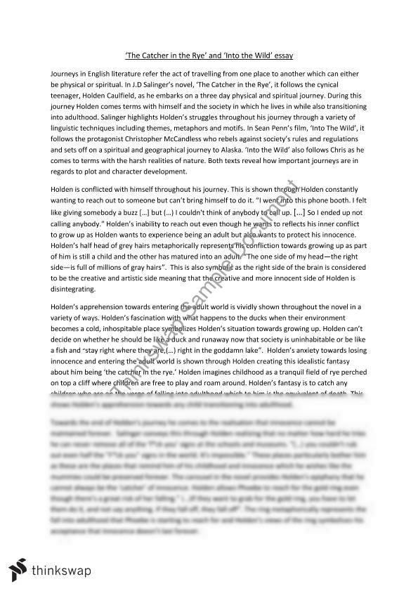 Catcher In The Rye And Into The Wild Essay  Year  Hsc  Help With Essay Papers Management Essays Catcher In The Rye And Into The Wild Essay  Year  Hsc  Interview Essay also Examples Of Autobiography Essay
