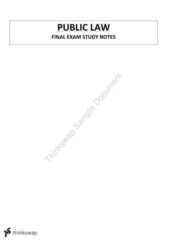 Complete Final Exam Notes