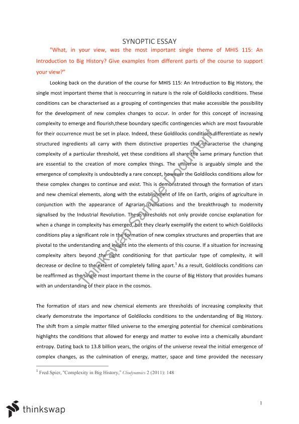 History of chemistry essay