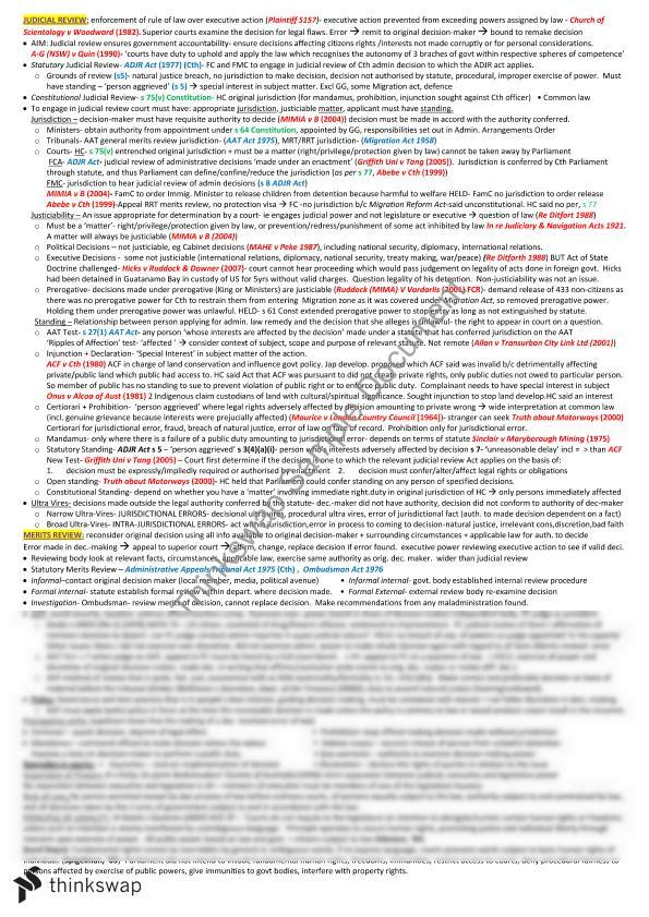 Admin Law Final Summary Notes