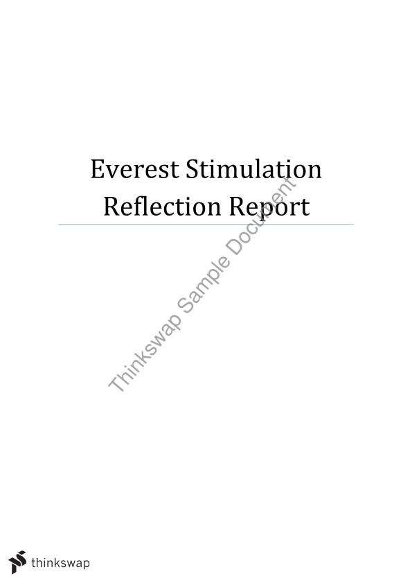 mgmt1001 everest Mgmt1001 everest simulation report executive summary everest is a simulator designed by harvard business school as an online game for students to experience organisational challenges and team dynamics.