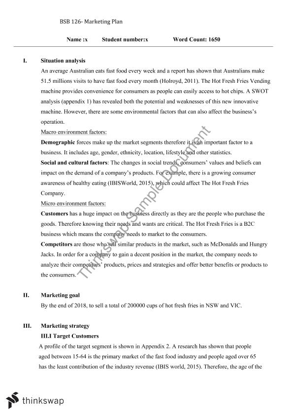 Bsb  Marketing Report  Bsb  Marketing  Thinkswap