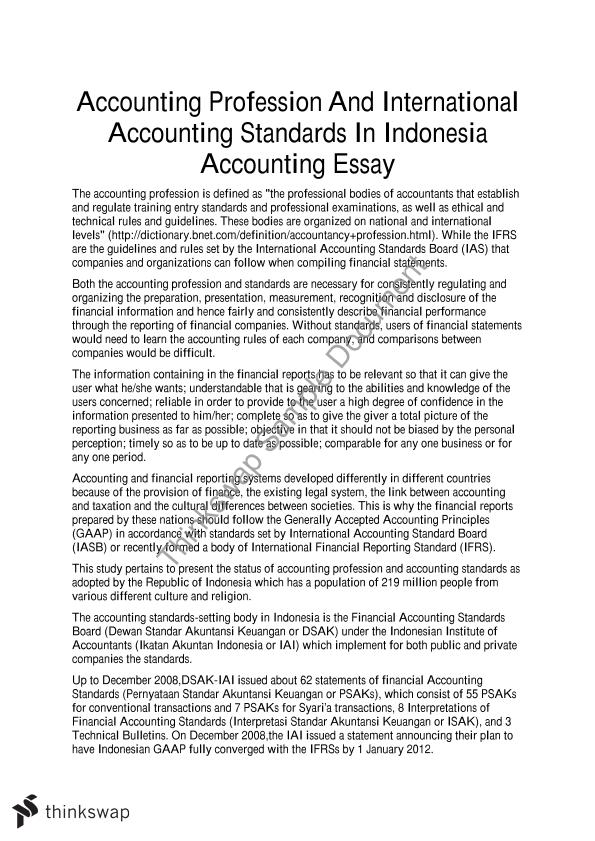 Paper about accounting