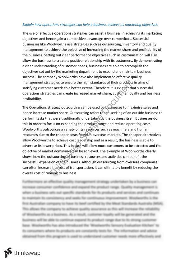Business operations essay