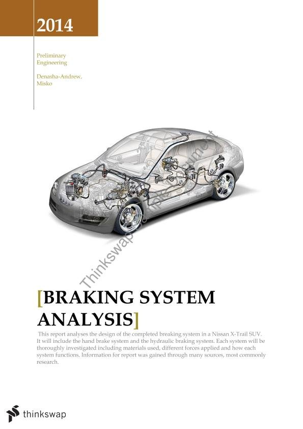 research papers on brakes Research papers graduate school spring 2015 research in carbon-carbon composites them the right candidate materials for aircraft and racing car brakes and re.