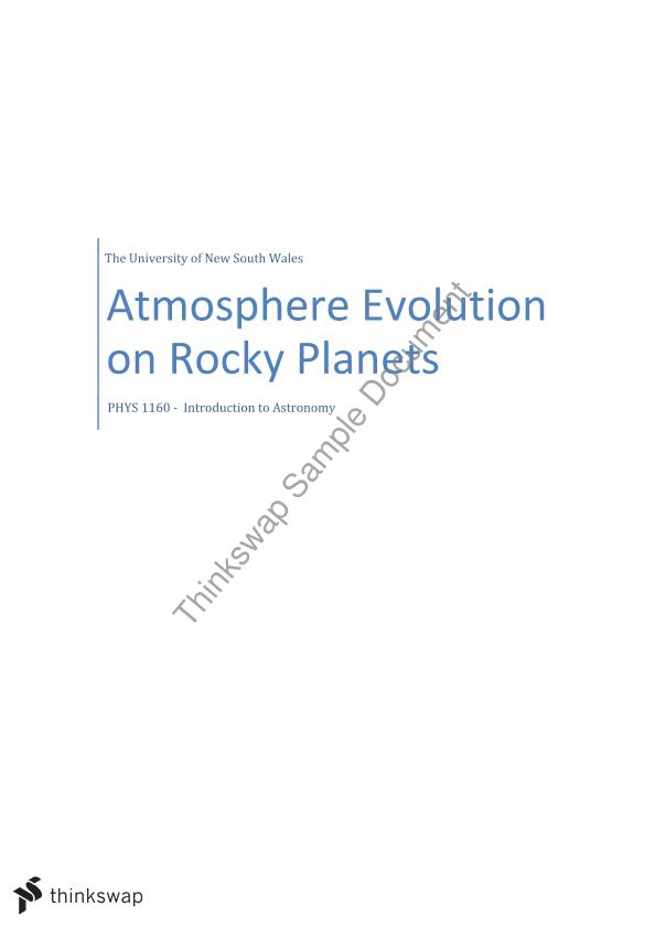 essays on earth atmosphere Comparison of earth, venus, mars less co2 in atmosphere means less trapping of outgoing infrared radiation == cooler planet •liquid water was subducted into mantle to weaken the flow strength of mantle rocks so that plate tectonics could evolve.