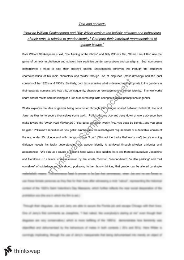 essay about gender identity Gender identity 1 gender identity paper adreena lind february 3, 2013 biology of psychology 340 rebecca wilson  sample essay on cultural identity.