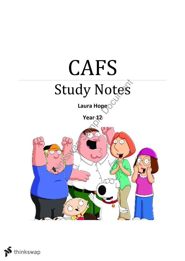 Cafs study notes hsc