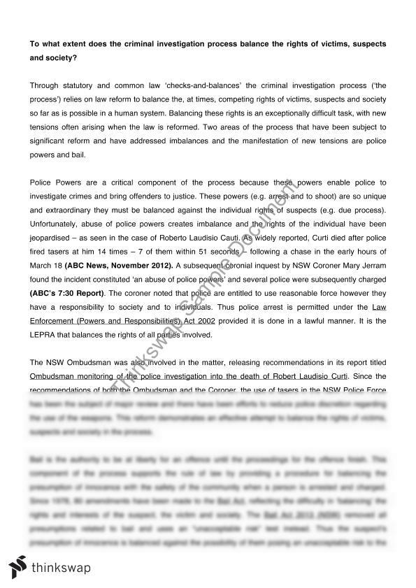 criminal investigation 3 essay Summary report for: 33-302103 - criminal investigators and special agents investigate alleged or suspected criminal violations of federal, state, or local laws to.