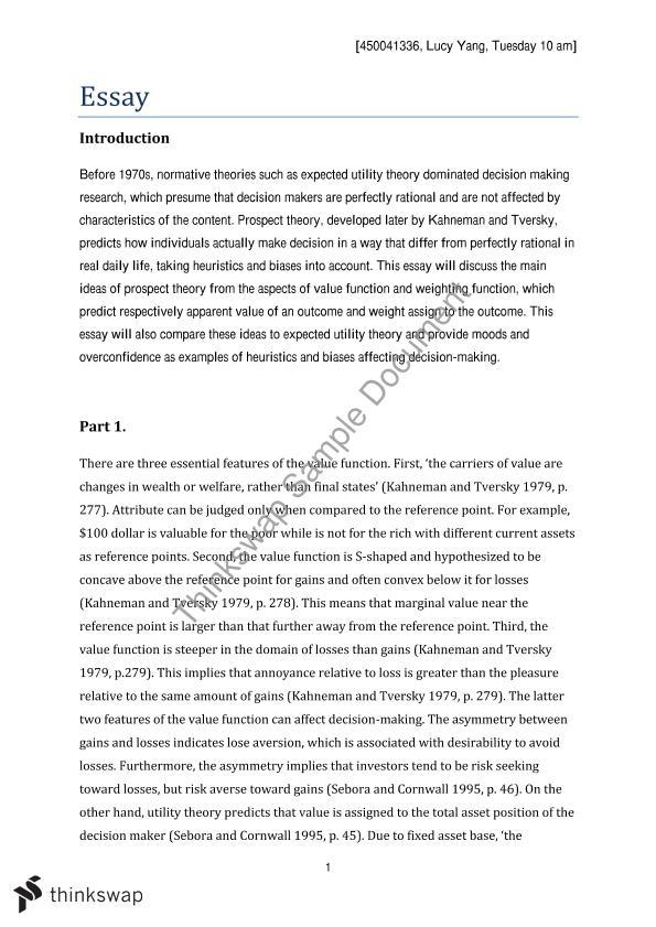 Risk management utility theory pdf