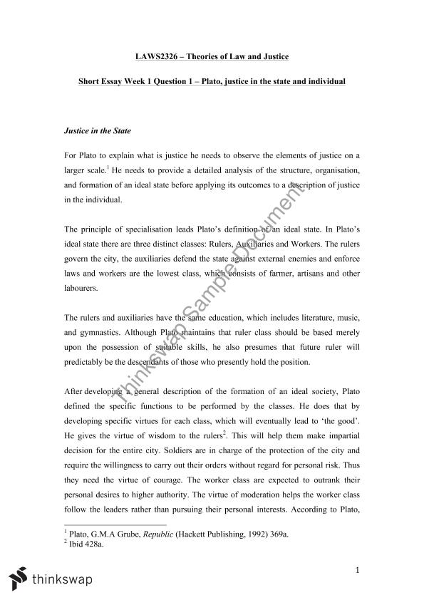 essay plato Essays and criticism on plato's plato's republic - republic [politeia], plato.