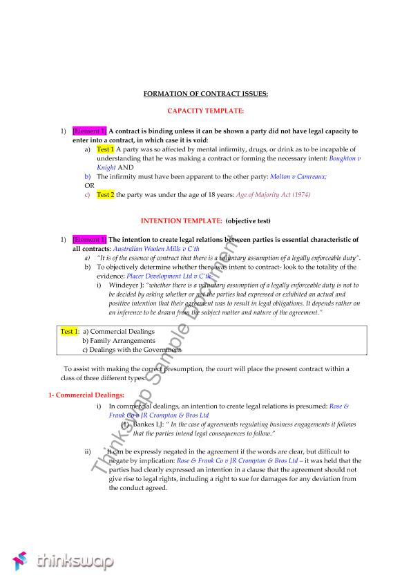 Contracts Answers Template