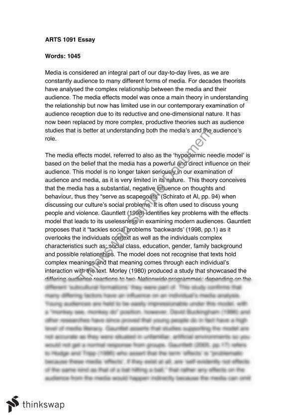 media effects essay