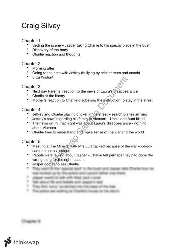 jasper jones study guide