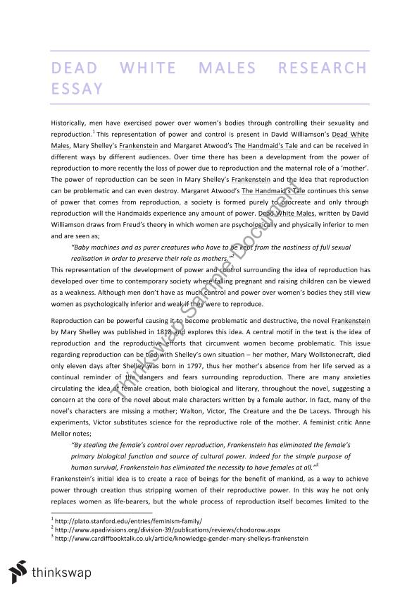 dead white colored men of all ages essays