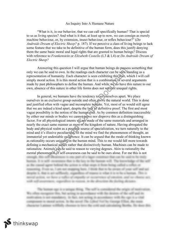 essay on morality