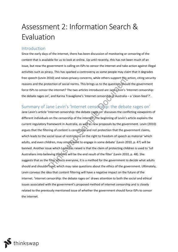 evaluation of assignment