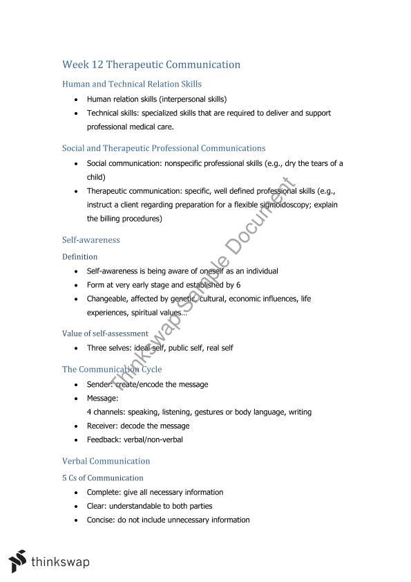 COMU1030 Final Exam Review   COMU1030 - Communication Skills