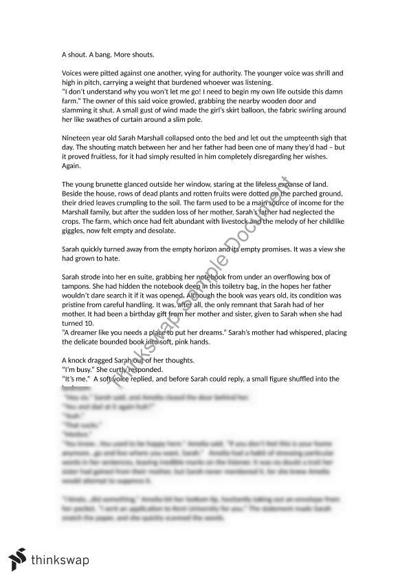 HSC Discovery Creative Writing Sample