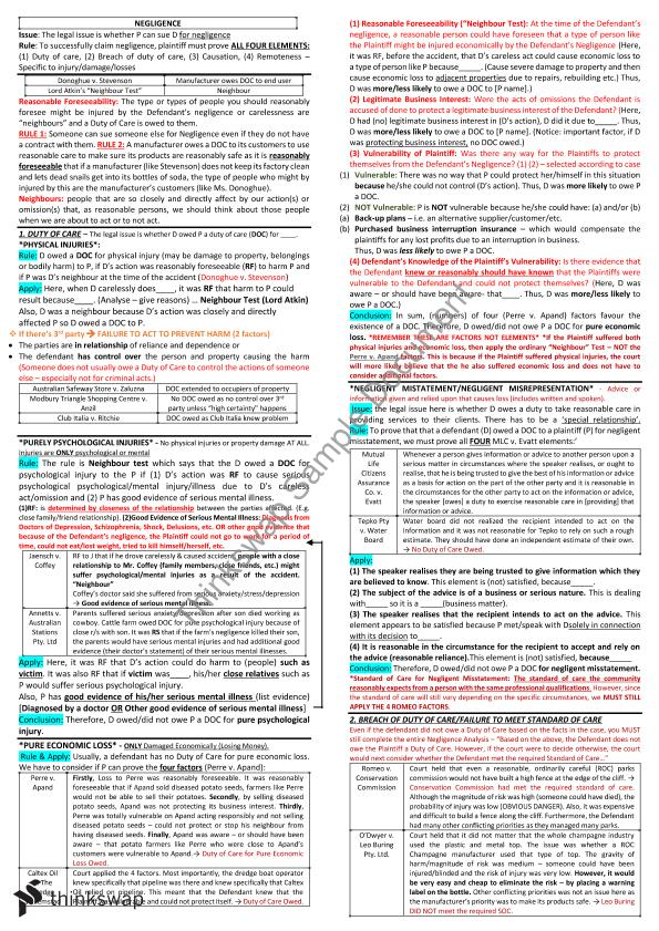 bolton v stone tort negligence essay Negligence tort for legal duties category: law tags: duty negligence tort essay type: review words: 1741  in bolton v stone the ball hit from the cricket .