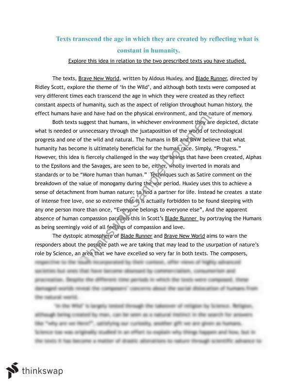 bnw essay America today vs brave new world essaysin the novel, brave new world we learn about two civilizations that seem corrupt to our current capitalistic american society.