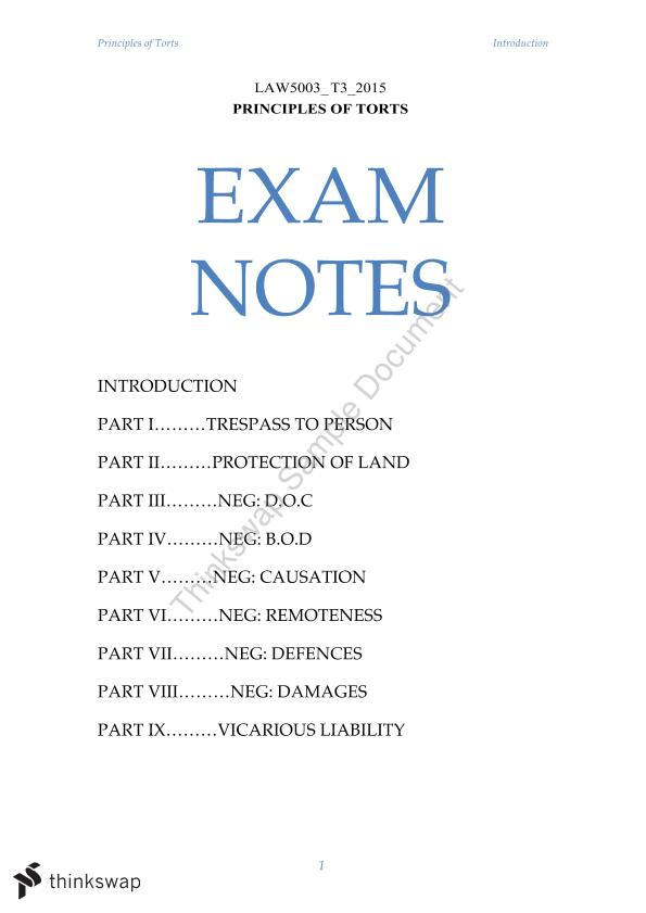 torts exam notes Hey 1ls, i made this intentional torts chart back during my torts exam hope it  helps  study notes using microsoft onenote: law school notes.