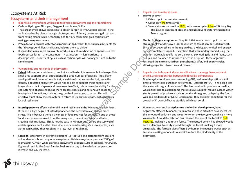 Geography GCSE  Edexcel Notes for whole course