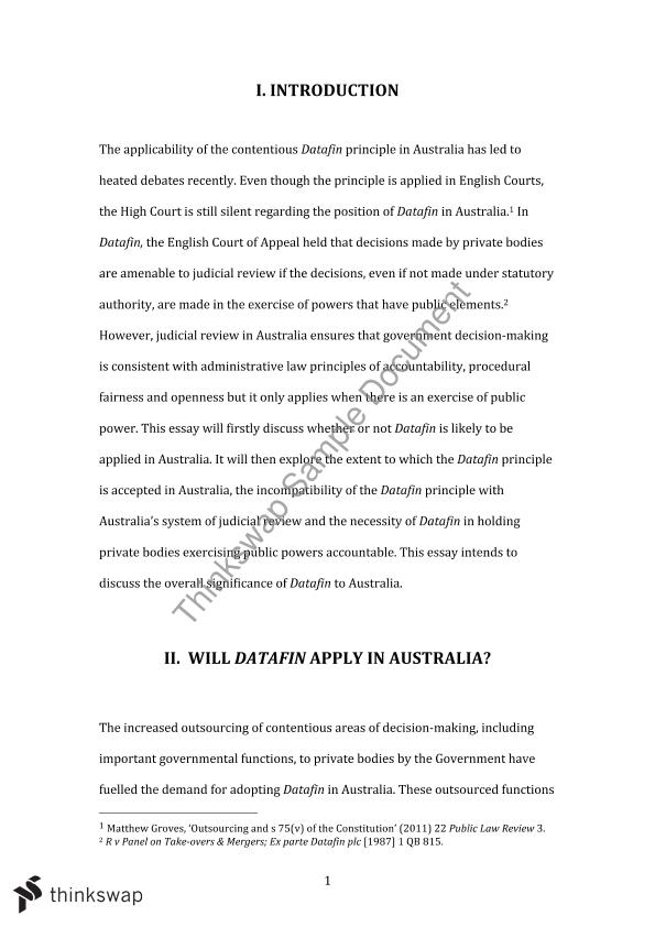 Research papers law