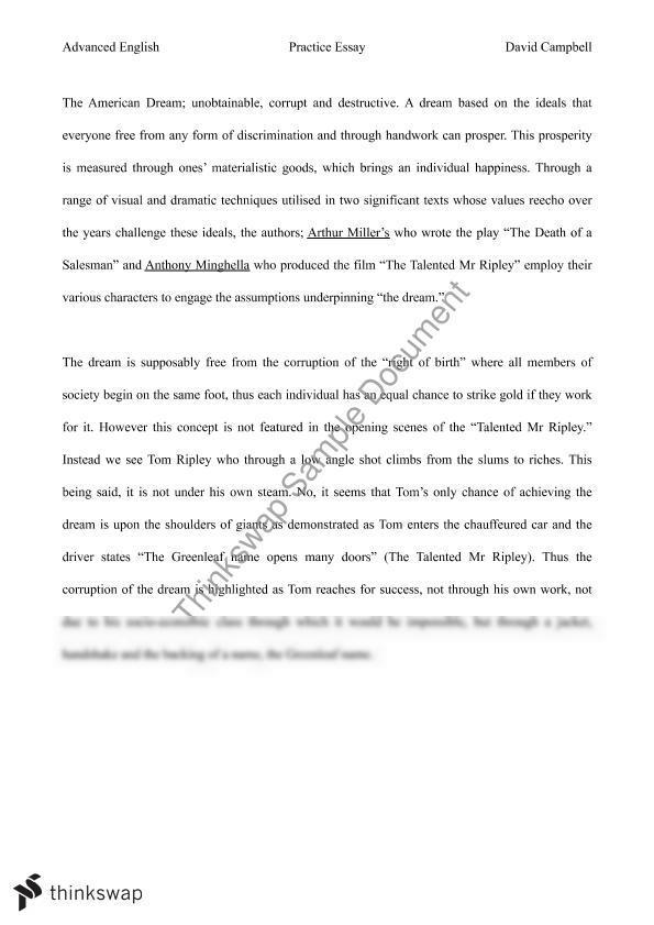 american dream essay english 3