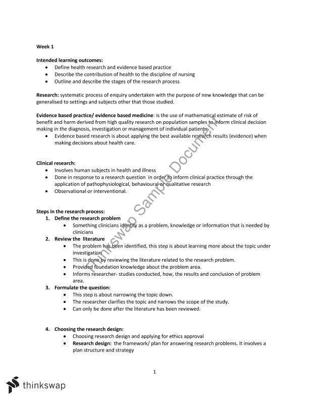 evidence based paper