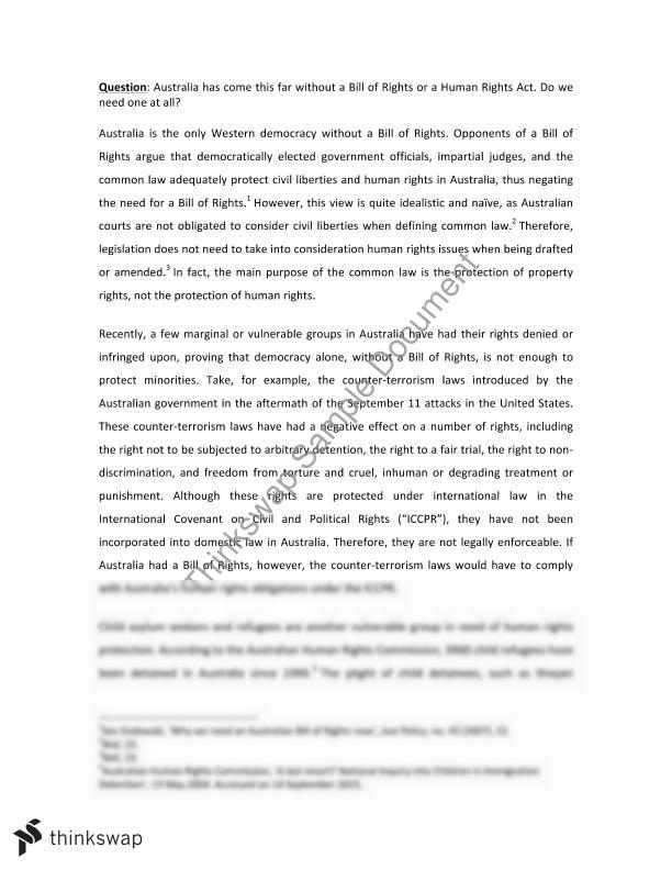 Human rights opinion essay