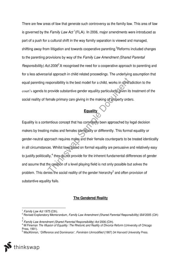 family law essay example How to write a declaration in a family law case some examples of people to ask: you should call the papers you attach to your declaration exhibits and.