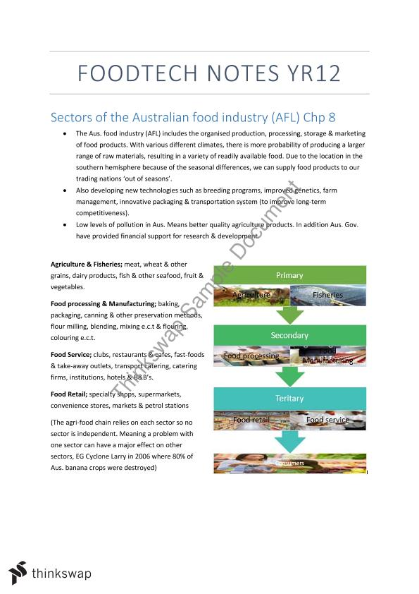 food tech notes hsc Year 11 hsc food technology comprehensive study notes , food technology this student studied: hsc year 11 food technology full notes, on every syllabus dot point.