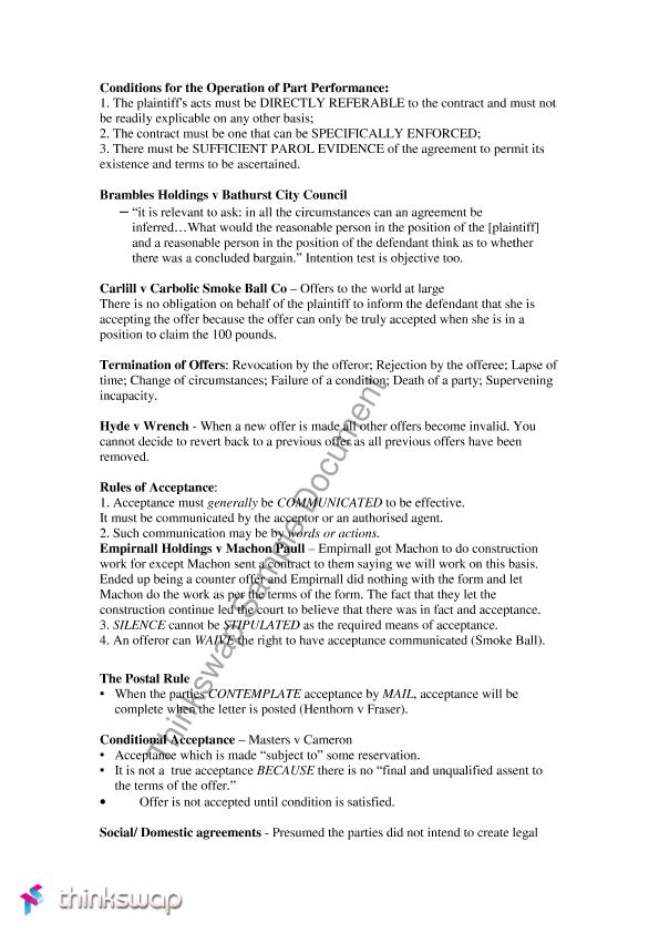 contracts which cannot be specifically enforced