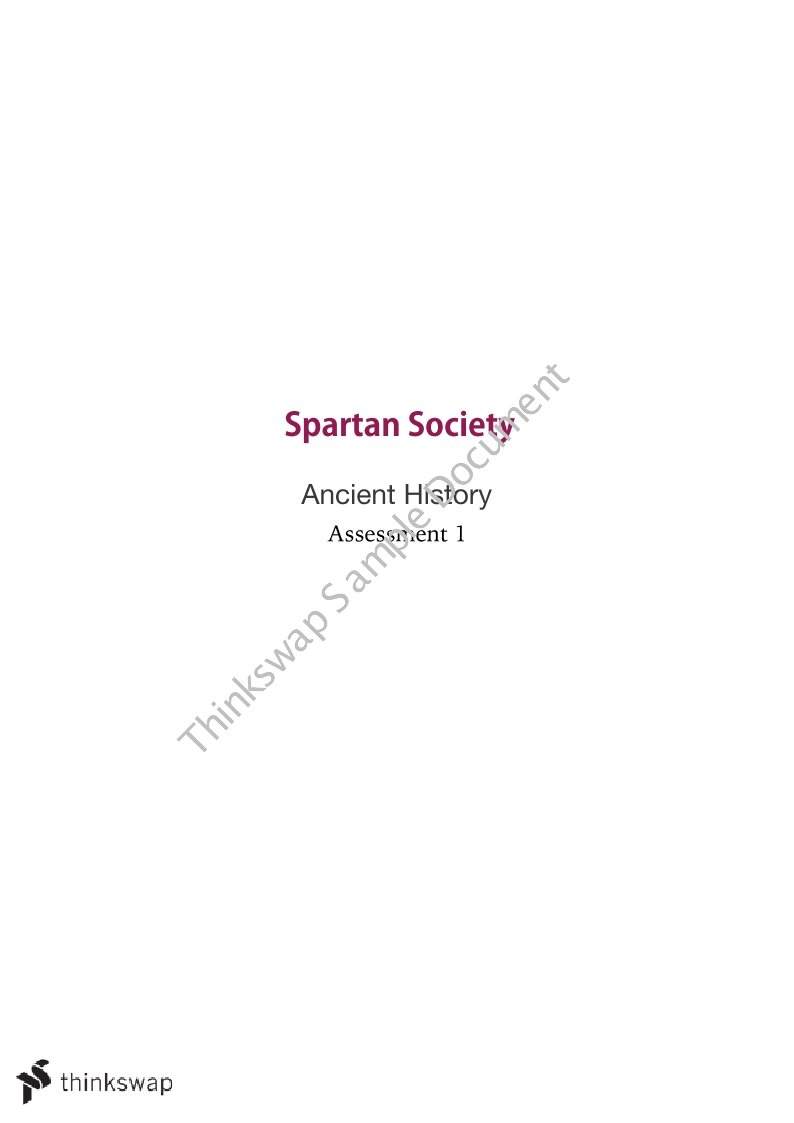 spartan society essay  spartan society essays and papers 123helpme com