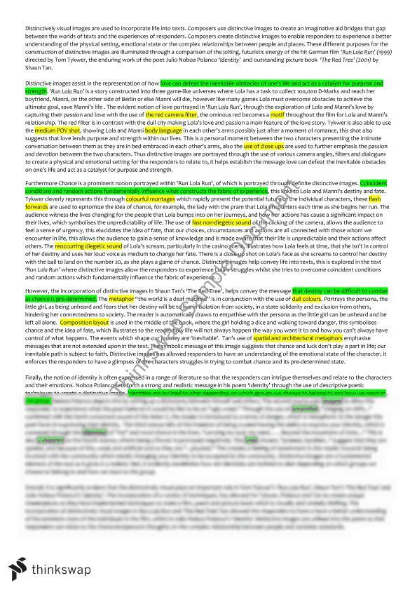 distinctly visual essay essay More essay examples on english rubric this creates distinctive visual impacts towards the audience or reader by letting the images stay on the screen whilst there is no acting, this helps the audience take in the full effect.