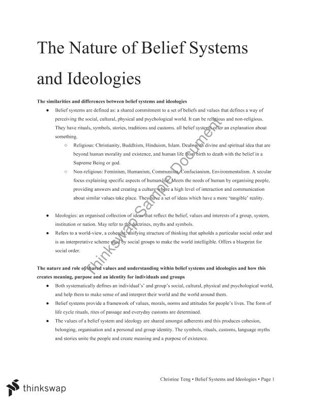 an analysis of the beliefs and ideologies of hinduism