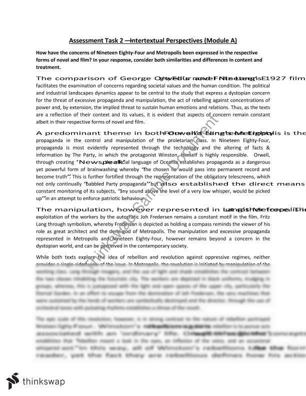 1984 essay thesis