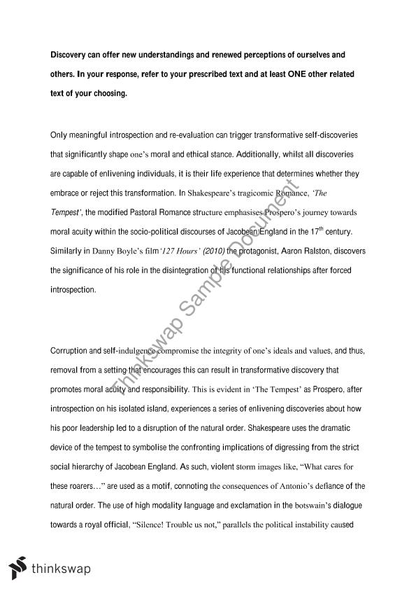 hsc final discover critical essay year hsc english  hsc final discover critical essay