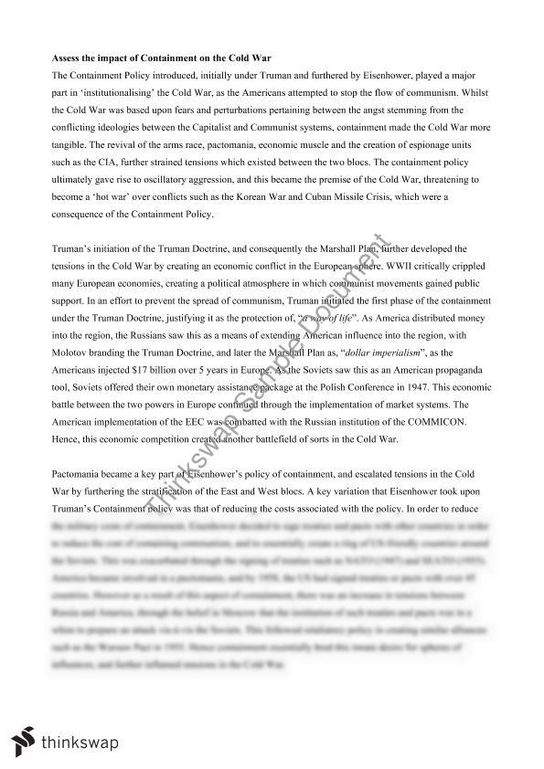 containment essay year hsc modern history thinkswap containment essay