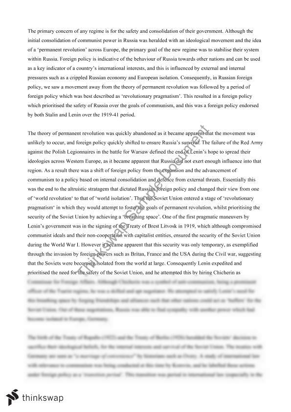 foreign policy essay year hsc modern history thinkswap foreign policy essay 1