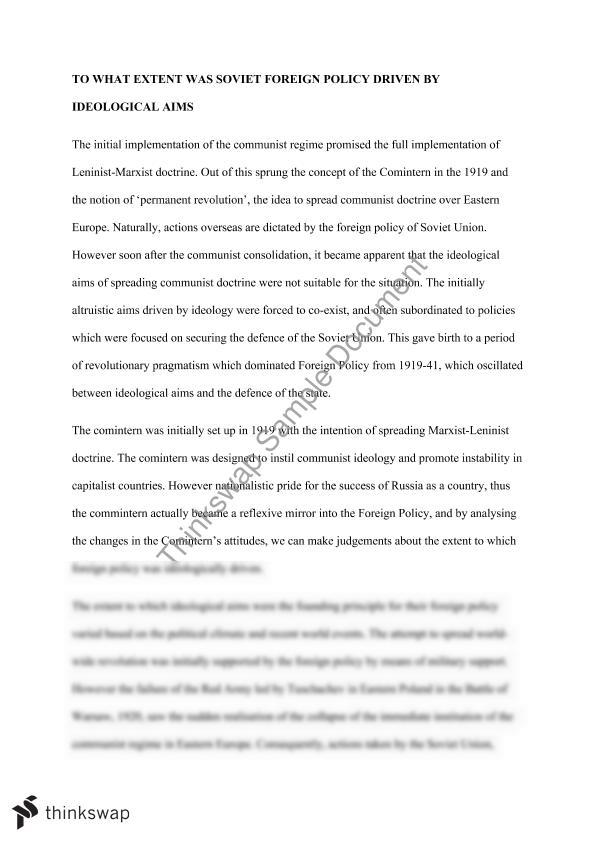 Essay On Global Warming In English Foreign Policy Essay  Healthy Living Essay also Writing Essay Papers Foreign Policy Essay   Year  Hsc  Modern History  Thinkswap Sample Of Research Essay Paper