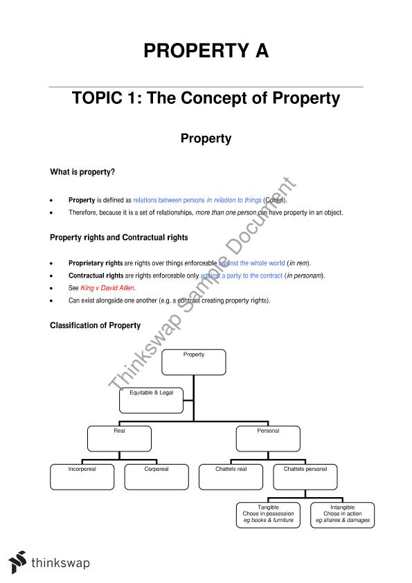 classification of equitable rights