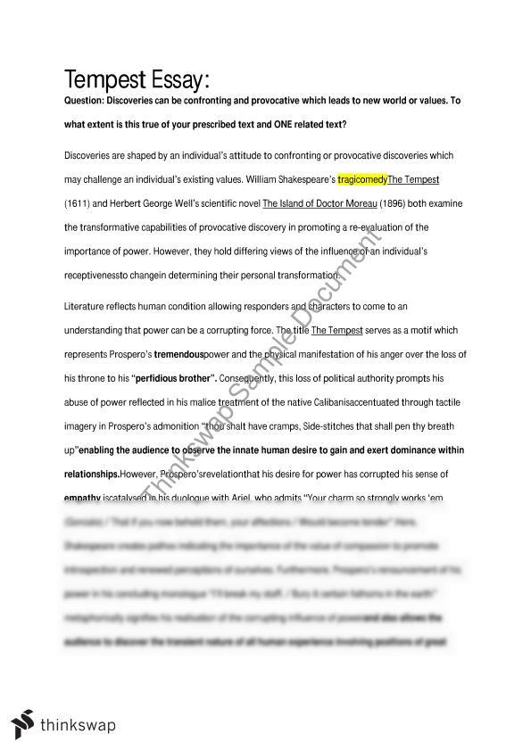 Area of study belonging essay
