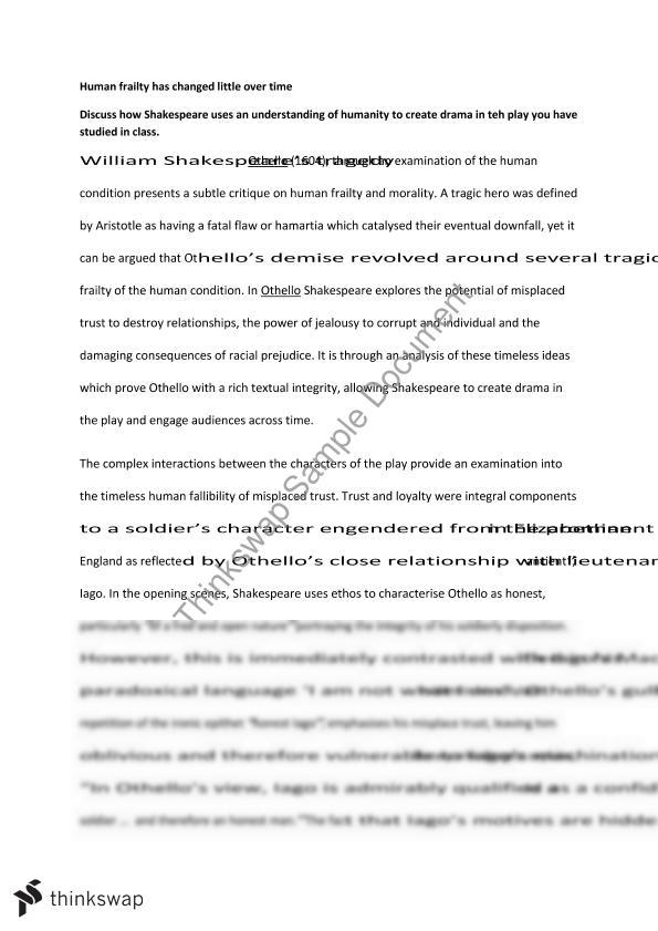 othello essay module b year hsc english advanced thinkswap othello essay module b