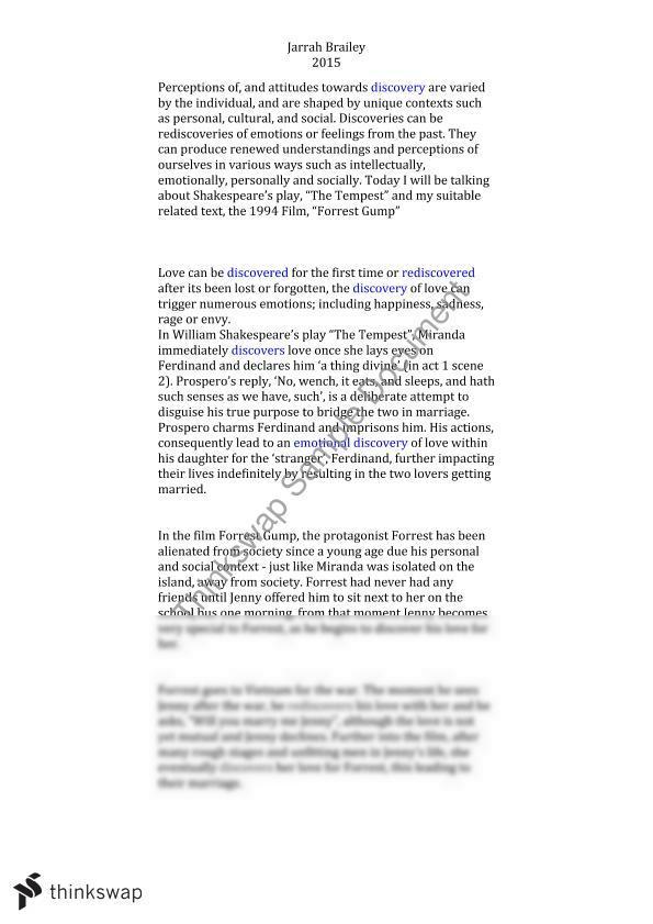 Forrest gump essays
